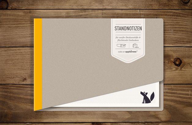 #Notizblock 'STANDNOTIZ' - gelb