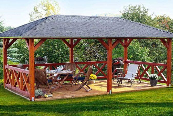 Garten Pavillon Holz Huette