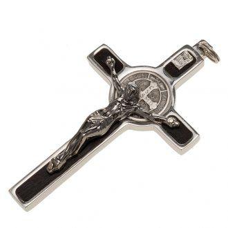 Pendente Croce San Benedetto argento 925 | vendita online su HOLYART