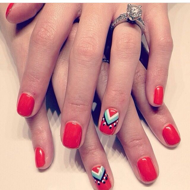 25+ Best Ideas About Red Nail Art On Pinterest