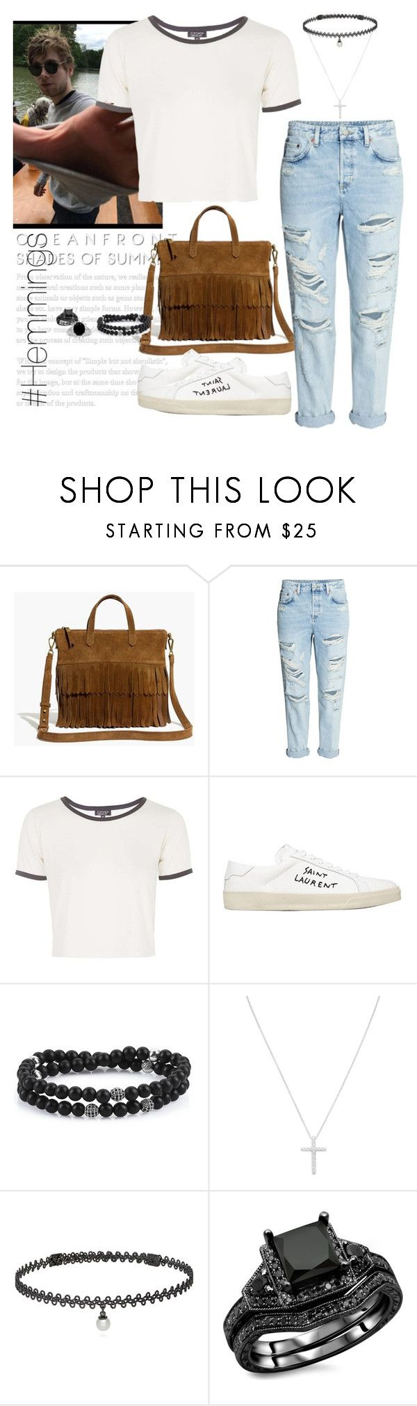 """""""Hemmings girl"""" by victoriashada ❤ liked on Polyvore featuring Madewell, Topshop, Yves Saint Laurent, BERRICLE, 5sos, girlfriend and lukehemmings"""