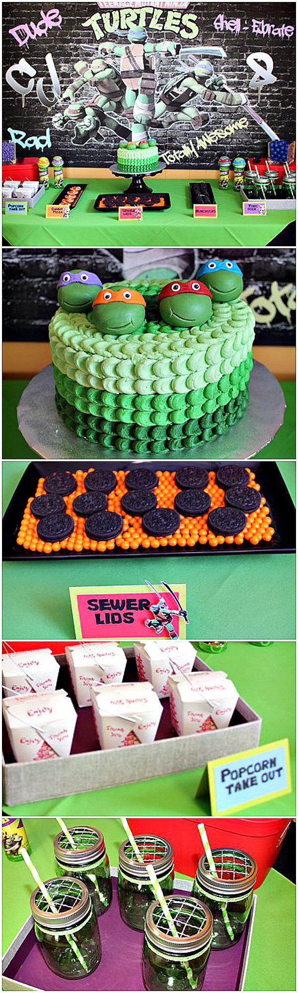 Awesome Teenage Mutant Ninja Turtles party ideas! #tmnt