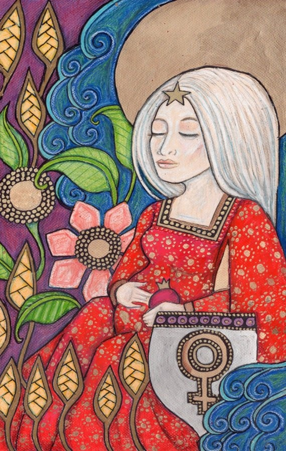 The Empress Tarot Card  Mother Earth / Gaia by LynnetteShelley, $299.00
