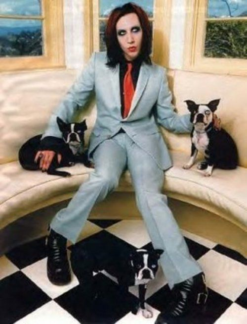 Marilyn Manson And His Puppies Love This Dogs