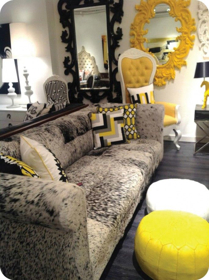 Delightful Graphite/Yellow At Mod Shop NYC: Bonanza Sofa :: Room Service