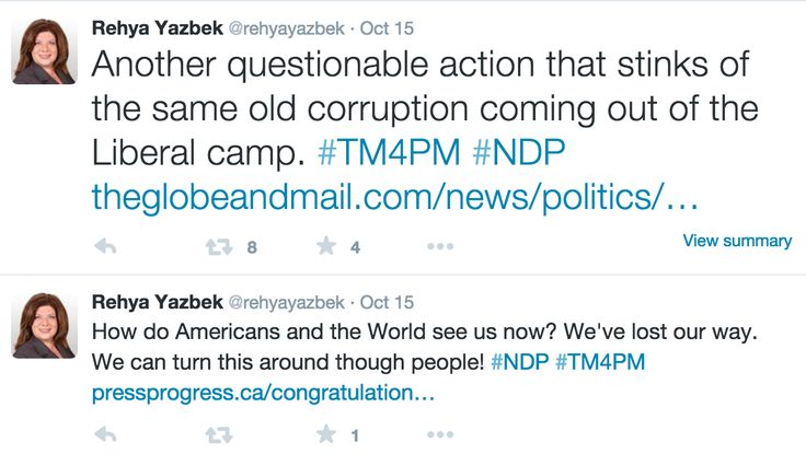 Enforcing that the current system is heavily flawed and that voters can rectify that system via a vote for the NDP.