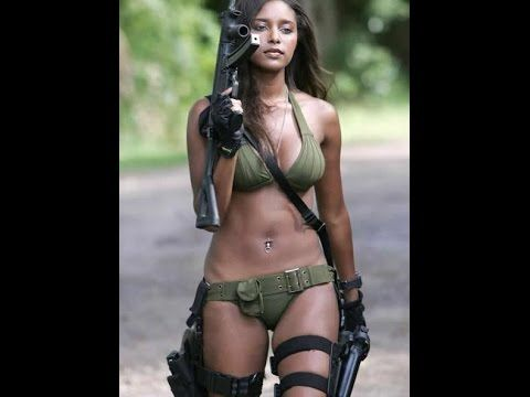 Beautiful cute female soldiers of the world