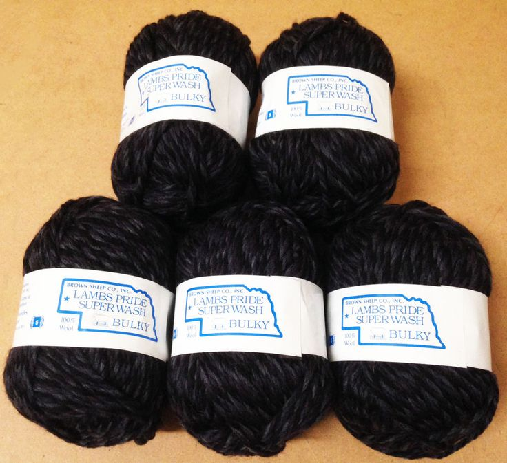 Brown Sheep Yarn Lambs Pride Superwash Bulky Blue Grey Slate 5 skeins 1st Q #BrownSheep