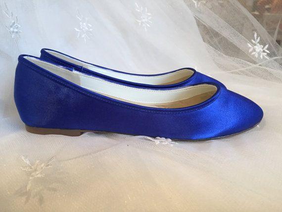 Sapphire Blue  Flat Shoes  Royal Blue Wedding Shoes   by Parisxox