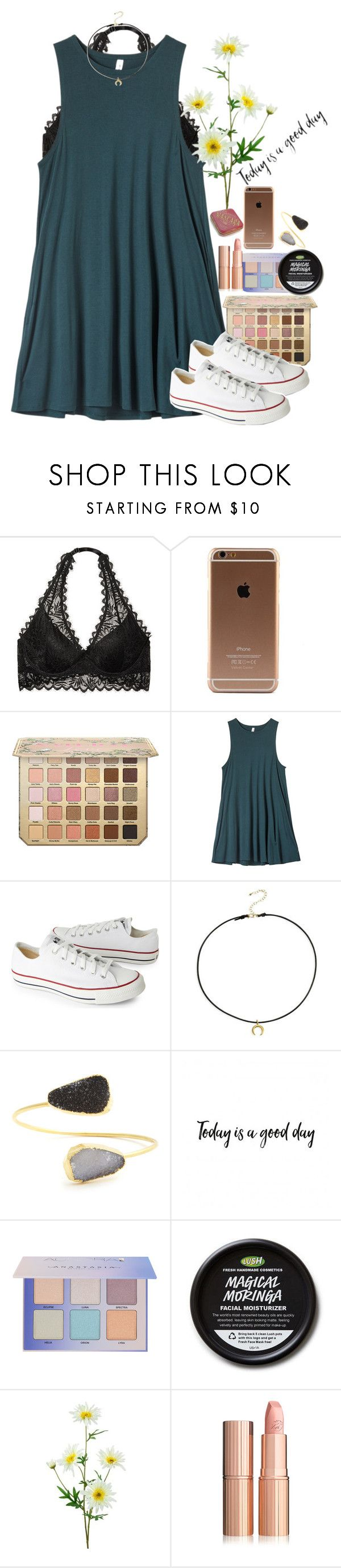 """There was another fight at school today"" by southernstruttin ❤ liked on Polyvore featuring Victoria's Secret, RVCA, Converse, Dogeared and Sole Society"