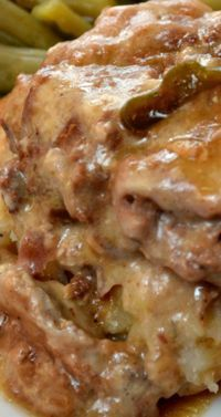 Slow Cooker Cajun Smothered Steak ~ The flavor is amazing with the bell pepper, onions, garlic, Worcestershire sauce, Lipton onion soup mix and Cajun Seasoning.