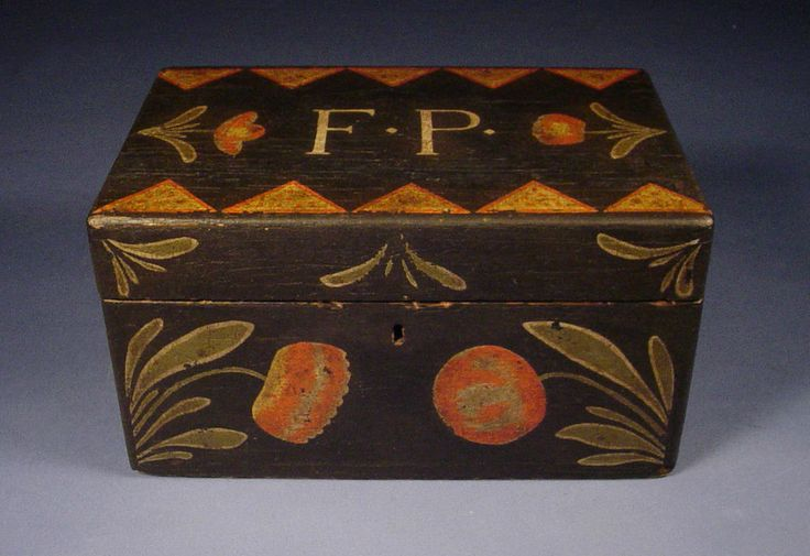 Paint Decorated Document Box - Lancaster County Pennsylvania  - AAFA - Folk Art