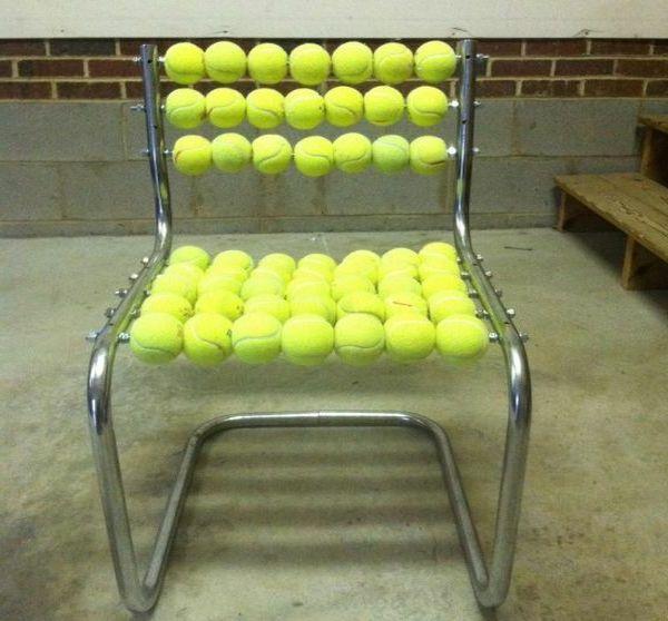 Stuhl Design Aus Tennisbällen Von Gabriel Coch   #Möbel
