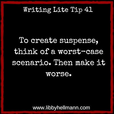 A fundamental task in creating suspense is to confront your protagonist with obstacles to overcome. Then, just as he/she thinks they have a handle on the situation, it gets worse.