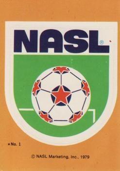 1979 Topps NASL #1 NASL Logo Front