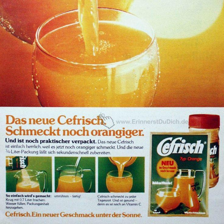 Cefrisch war in den 70er Jahren mein liebstes Erfrischungsgetränk und ist Kindheitserinnerung pur. Das Cefrisch Getränkepulver wurde entweder in einer Kunststoffdose oder einem Beutel verkauft. Die Zubereitung war denkbar einfach: Das Cefrisch-Pulver in Wasser auflösen und den Orangensaft dann literweise trinken. Cefrisch haben wir auch oft als Brausepulver genascht, bis wir Bauchschmerzen hatten. Den leckeren…
