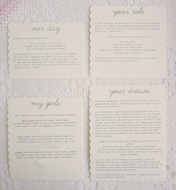Best  Bridesmaid Letter Ideas On   Letter To