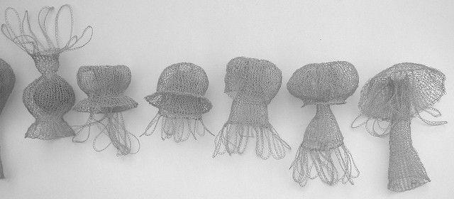Jellyfish Series crochet wire by Anita Bruce