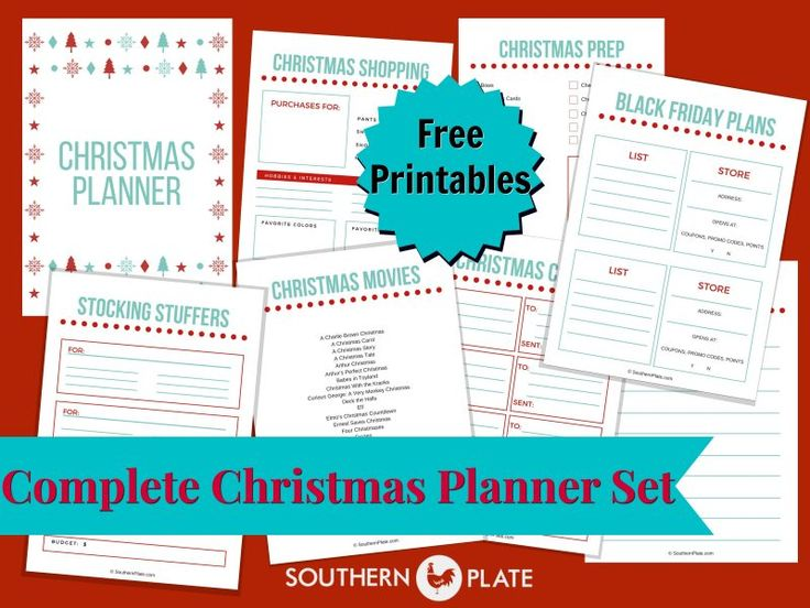 FREE Christmas Planner Printables ~ https://www.southernplate.com