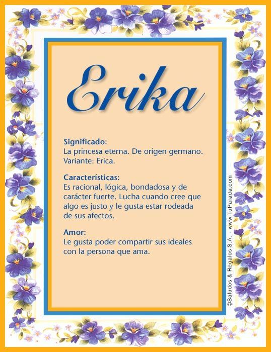 Image result for meaning of erica