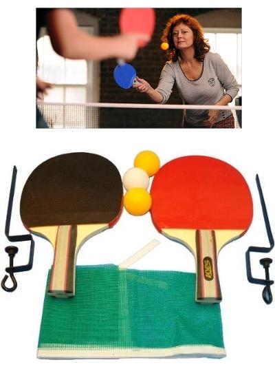 Kit completo para jugar al Ping Pong donde quieras.     Jugar al FREE PING PONG, el tenis de mesa que permite jugar en cualquier lugar, en todo tipo de mesas y sin reglas.     Contenido del Kit:  2 Raquetas de Ping Pong Marca RuiFeng.   3 Bolas de Ping Pong.  Red de Ping Pong.  2 Soportes para ajustar la red en la superficie donde quieras jugar.