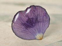 Anillo original con flores secas en resina epoxi