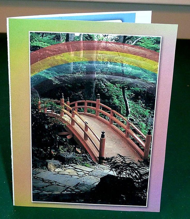 Male Pet Sympathy Card - Rainbow Bridge by SouthamptonCreations on Etsy
