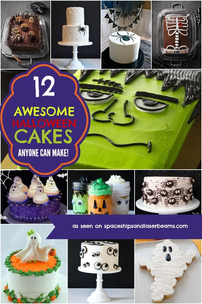 12 Awesome Halloween Cakes Anyone Can Make - Spaceships and Laser Beams