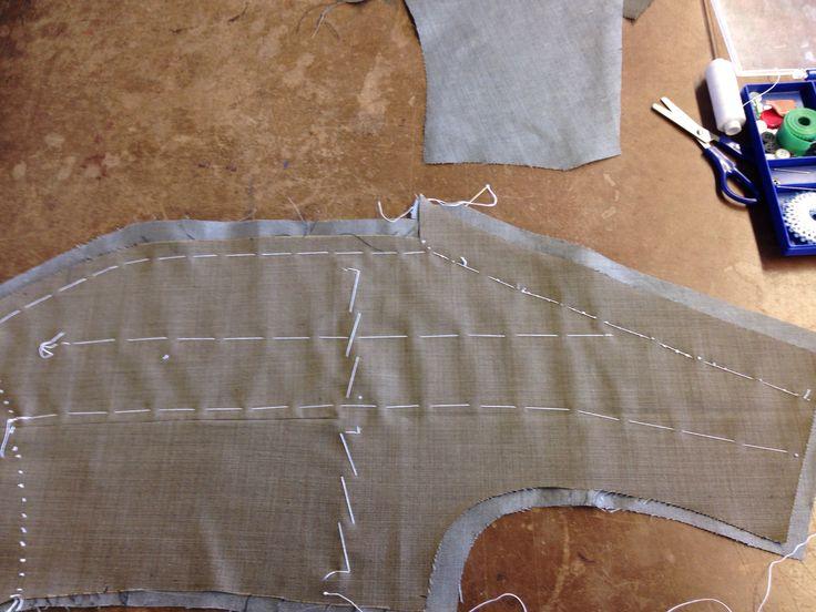 Basting a waistcoat