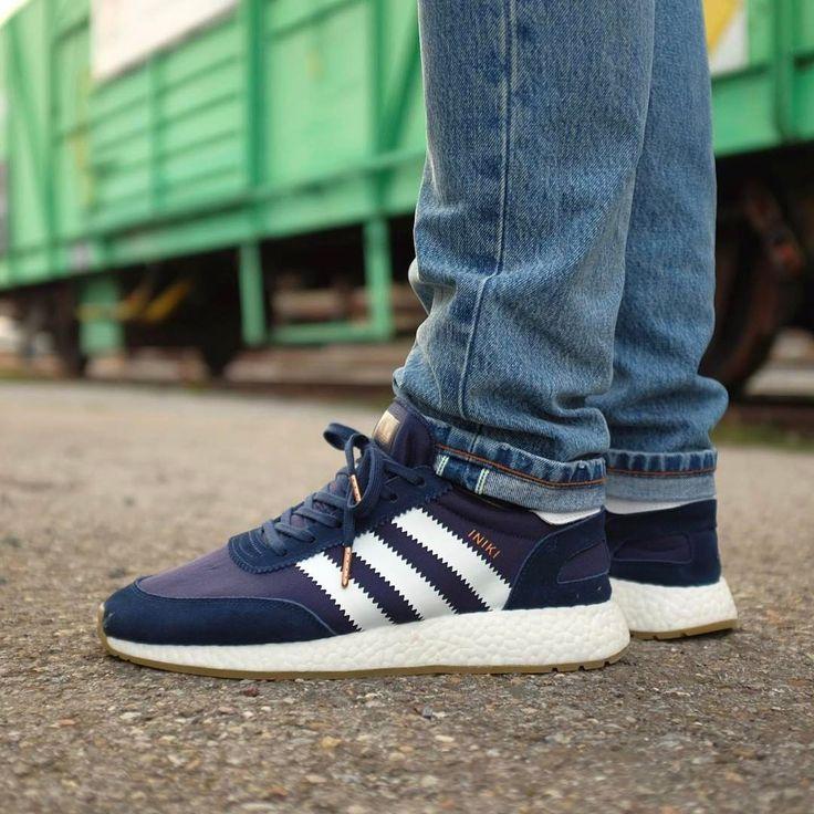 Adidas Running Shoe Blue Men Iniki
