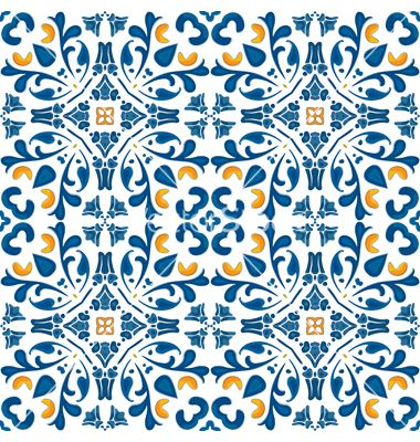 Portuguese tiles vector - by nahhan on VectorStock®