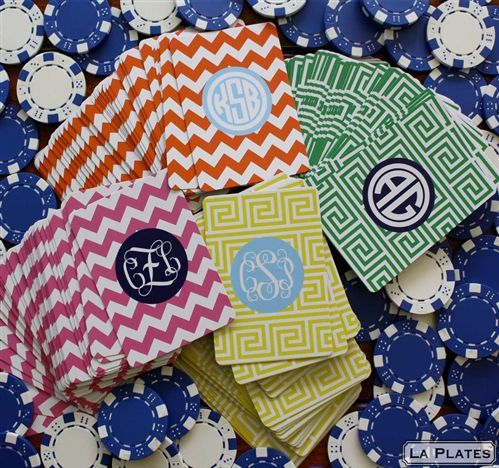 Cute: Monogram Madness, Monogrammed Playing, Monogram Playing, Gift Ideas, Monogrammed Cards, Great Gifts, Playing Cards, Giftidea