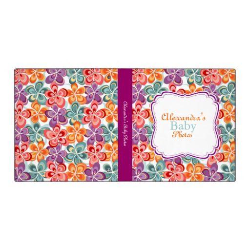 Colorful Varnish Flowers Baby Album