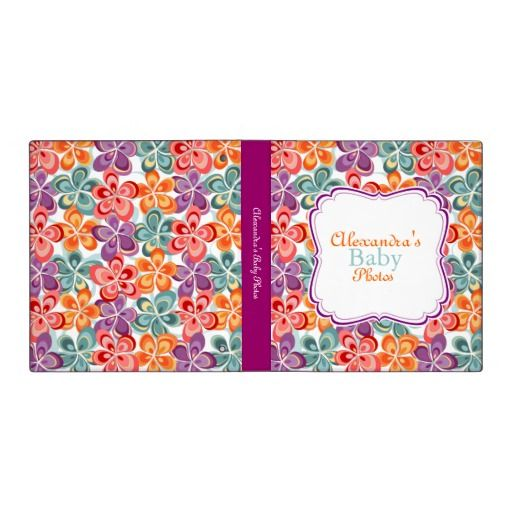 Colorful Varnish Flowers Baby Album