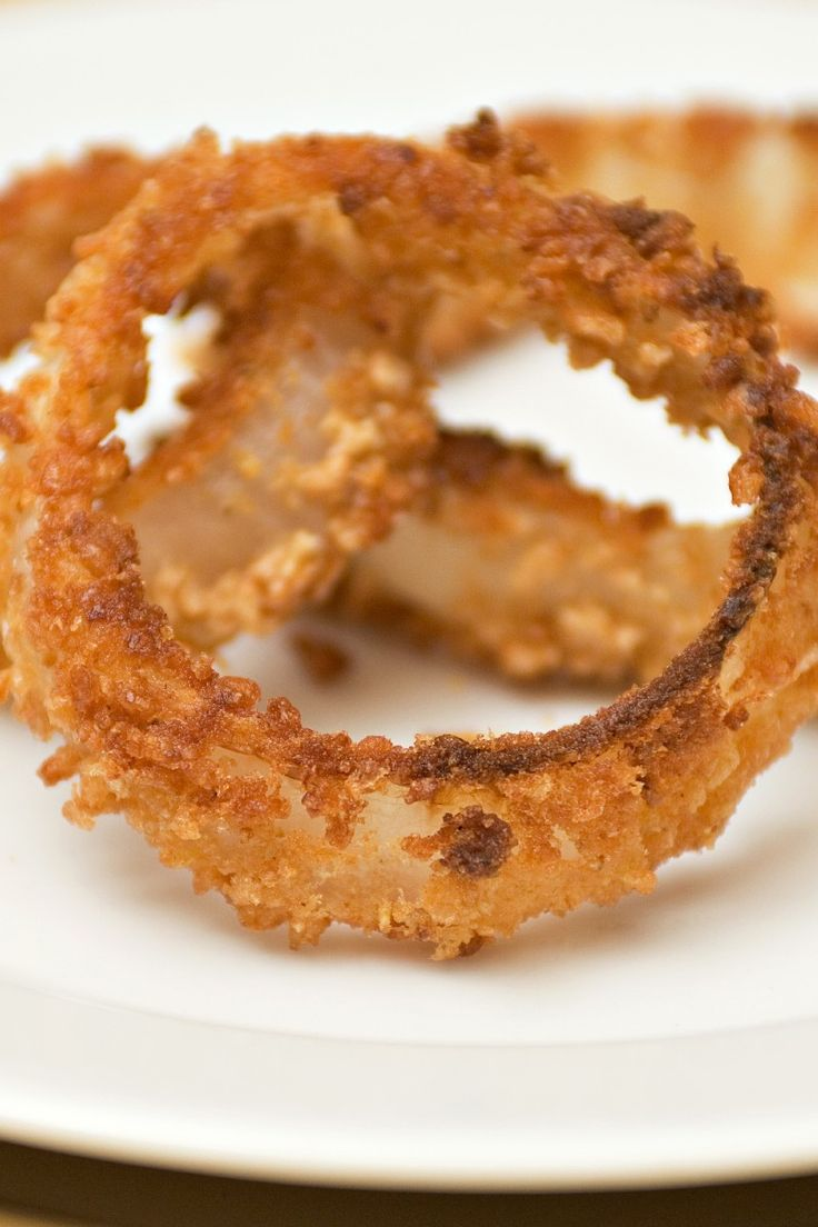 Oven Fried Onion Rings Side Dish #Recipe