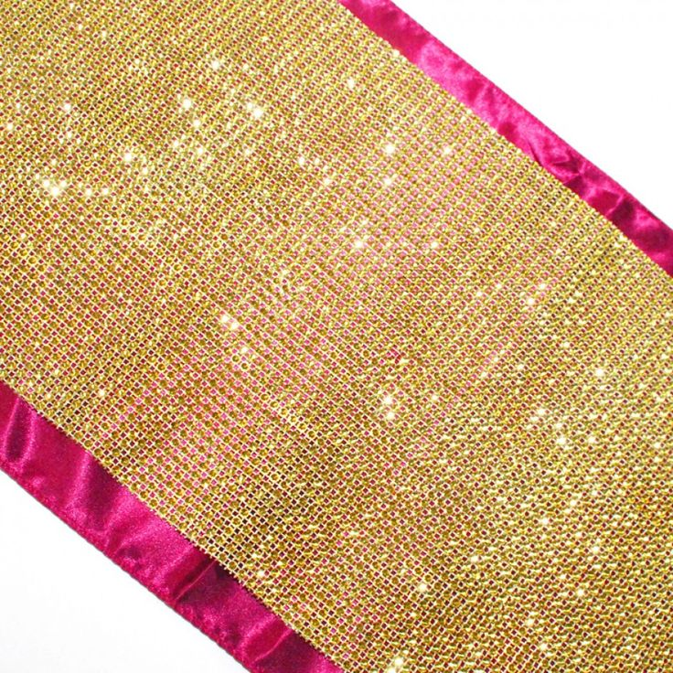 Diamond Rhinestone Table Runner   Gold