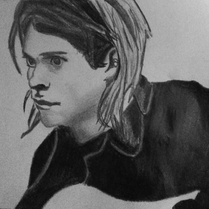 My drawing of Kurt Cobain - nirvana