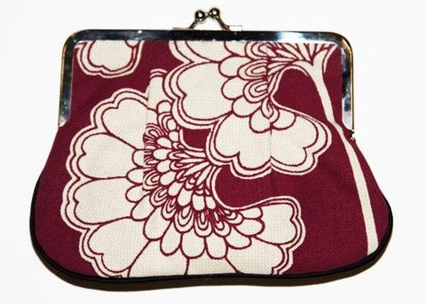 Florence Broadhurst Clutch - Maroon Japanese Floral - Rex Royale - Wellington and New Zealand designer fashion clothing jewellery art women's cuba st boutique