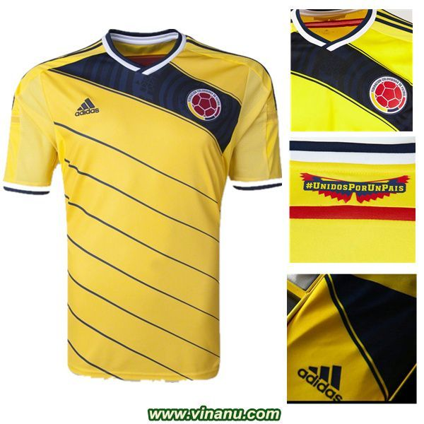 882914b6384 the thai version 2014 brazilian world cup soccer jerseys colombia ...