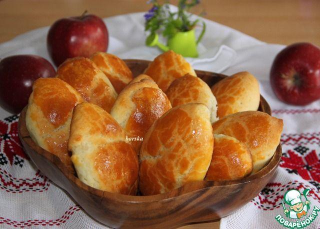 Творожные пирожки с яблоками. Очень нежные.