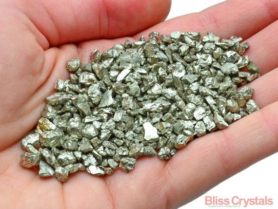 Sie kaufen 2 Unzen Grade A + Qualität, Pyrit Mini Sand NUGGETS, die abgebildet…