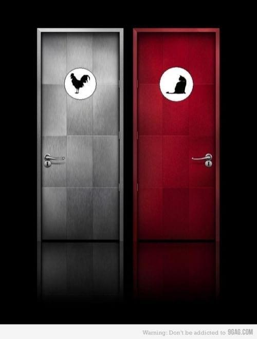 Toilette, segui il cartello: i più strani finiscono online