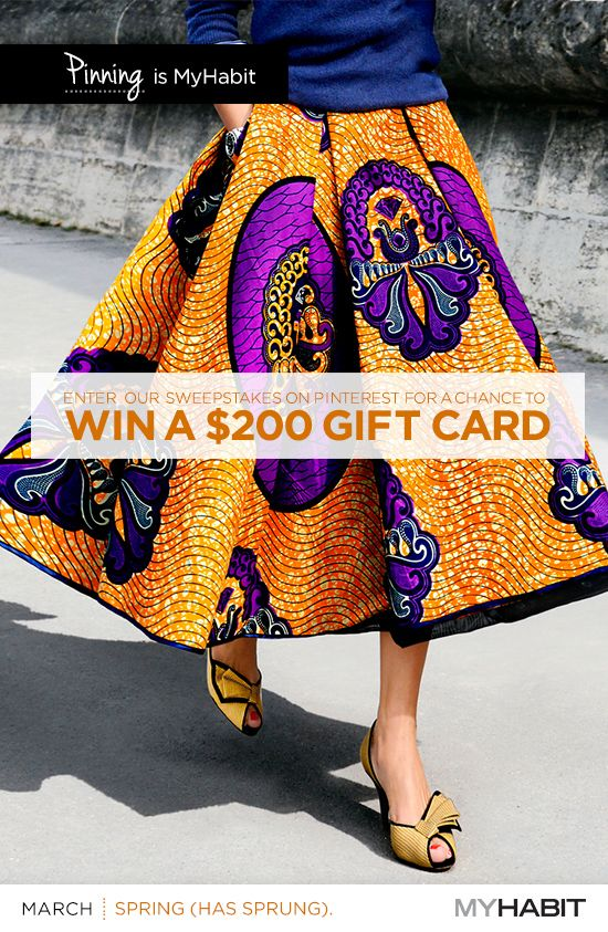 Pin an item for a chance to win a $200.00 MyHabit gift card. NO PURCHASE NECESSARY. Ends 12/31/14. See Official Rules. http://www.myhabit.com/help/201425020