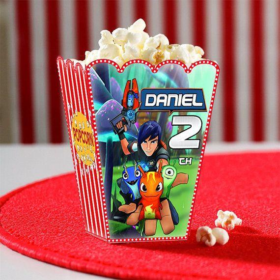 Template popcorn box printable editable by NathaliCibershop, $4.00