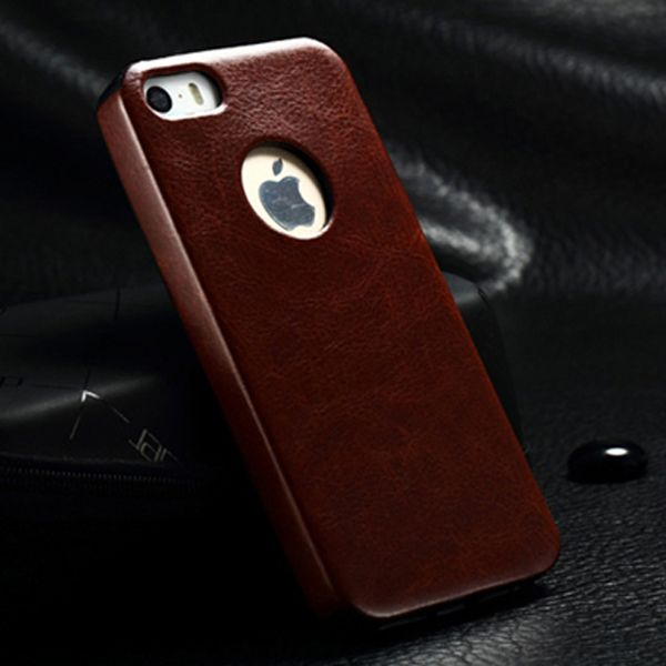 5s Deluxe Soft Leather Case for iPhone 5 5G 5S apple Luxury Crazy Horse Skin Retro Armor Designer Back Cases Cover for iPhone 5s