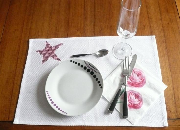 tuto-set-de-table-toile-géométry-DMC