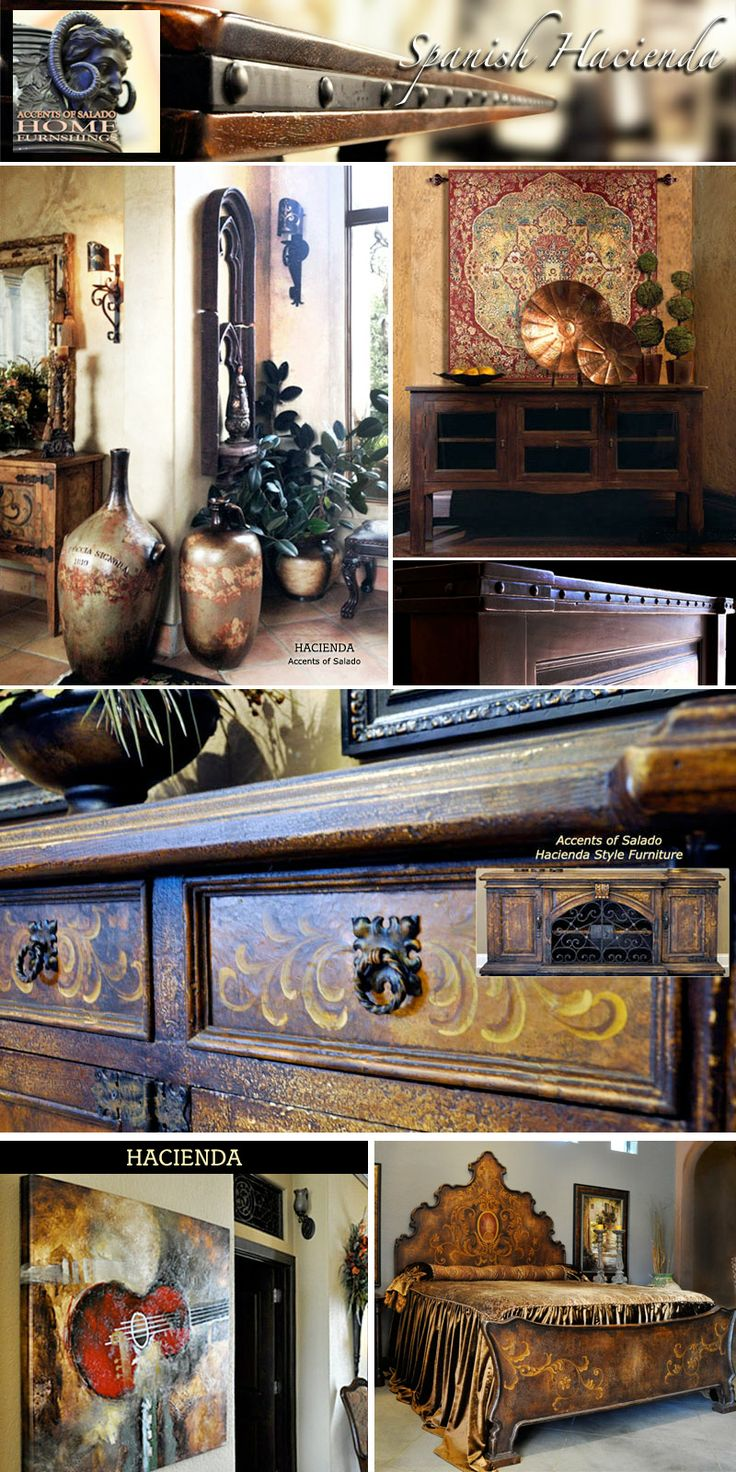 Furniture for Hacienda and Spanish Style Homes ~Accents of Salado. We ship nationwide.