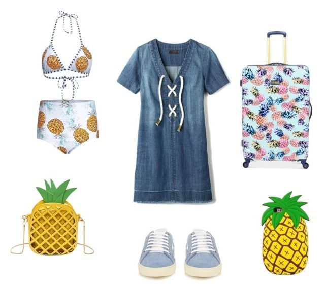 Pine Apple Outfit by dany-bear on Polyvore featuring polyvore fashion style Avon Yves Saint Laurent Jessica Simpson clothing
