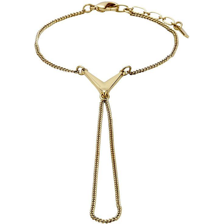 ❤ Pilgrim - Handkette mit Pfeilspitze - vergoldet | melovely