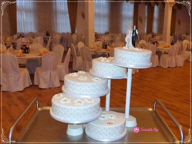Hochzeitstorte 5-stöckige Etagere